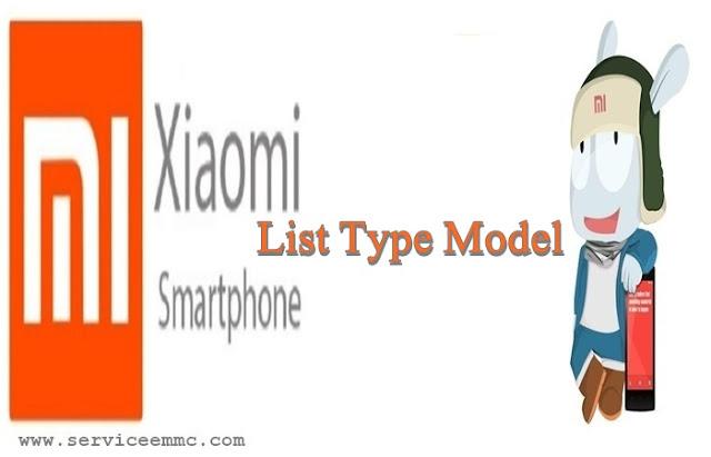 List Type Xiaomi Berdasarkan Model Angka