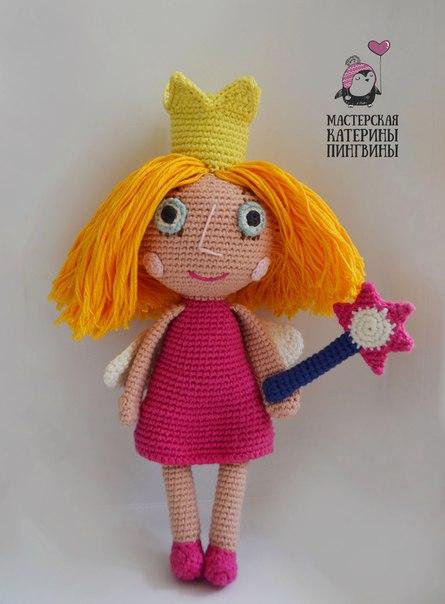 Вязаная кукла Холли крючком