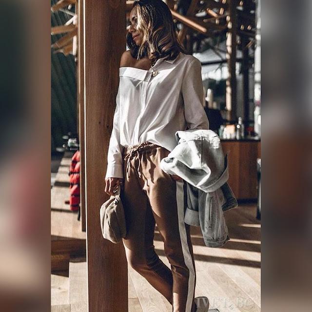 Γυναικείο άσπρο πουκάμισο ALEKA