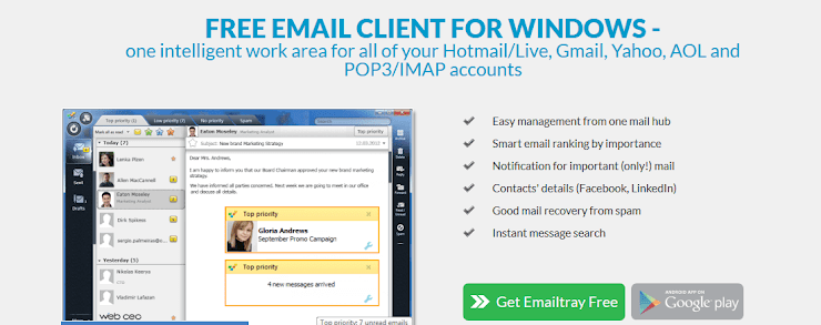 EmailTray email client software