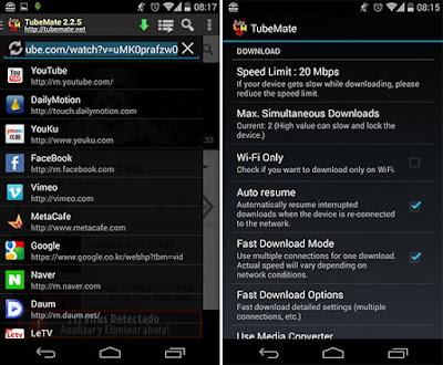 Download Aplikasi TubeMate YouTube Downloader Material Design V2.2.6 APK