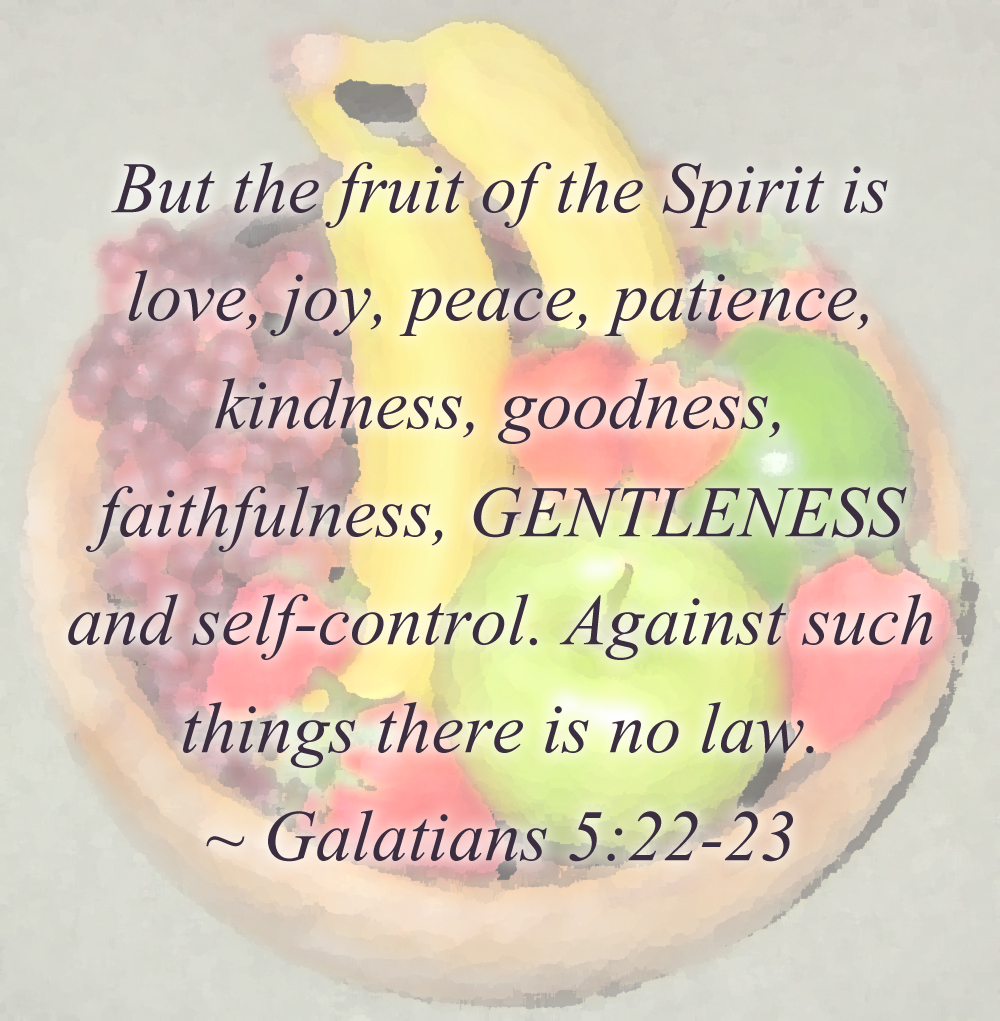 Fruit of the Spirit: Gentleness | At the Water's Edge