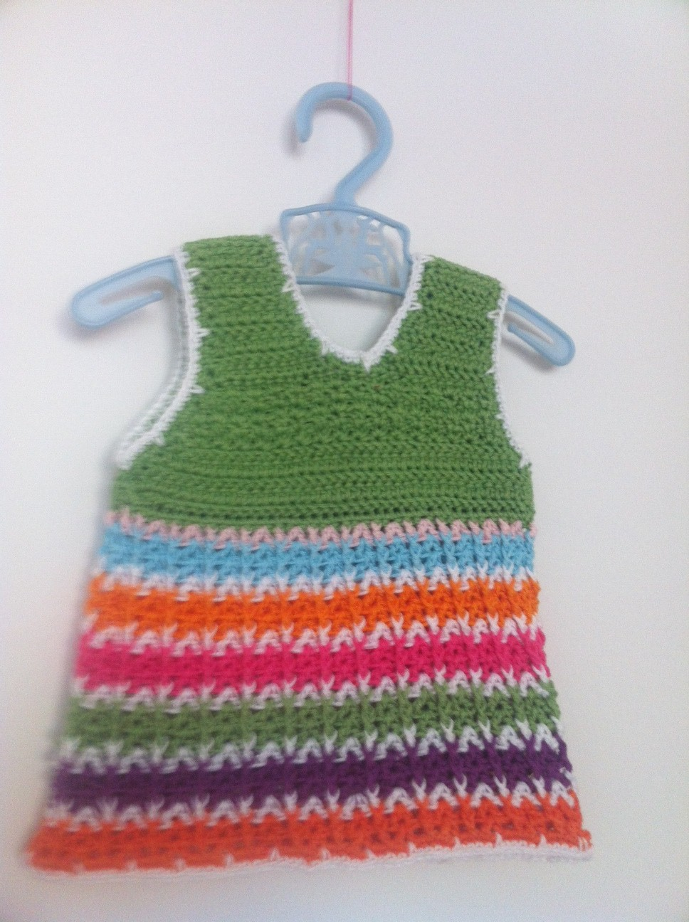 3 Is A Party Cute Crochet Baby Dress