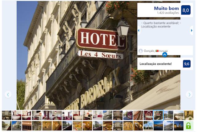 Hotel des 4 Soeurs em Bordéus