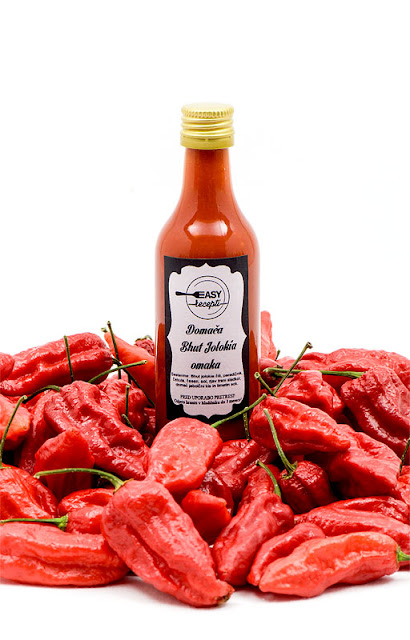 Homemade chilli sauce bhut jolokia giveaway shot