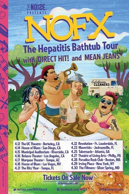 NOFX announce 'Hepatitis Bathtub Music and Book Tour'