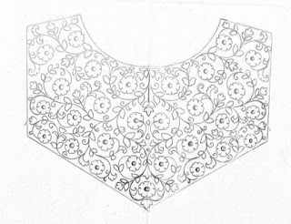 How to draw neck design drawing for embroidery and machine embroidery blouse and kurti necks.embroidery designs pencil sketch on tracing paper