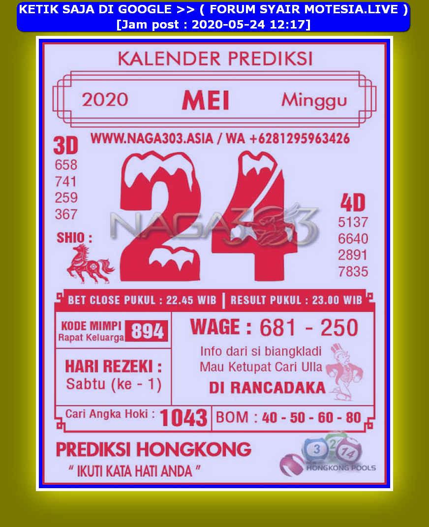 Kode syair Hongkong Minggu 24 Mei 2020 70