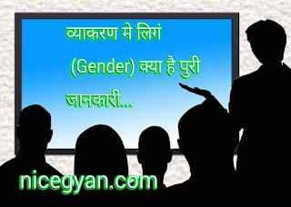 व्याकरण मे लिगं (Gender) क्या है पुरी जानकारी...