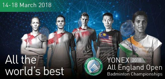 Jadwal Yonex All England Open 2018