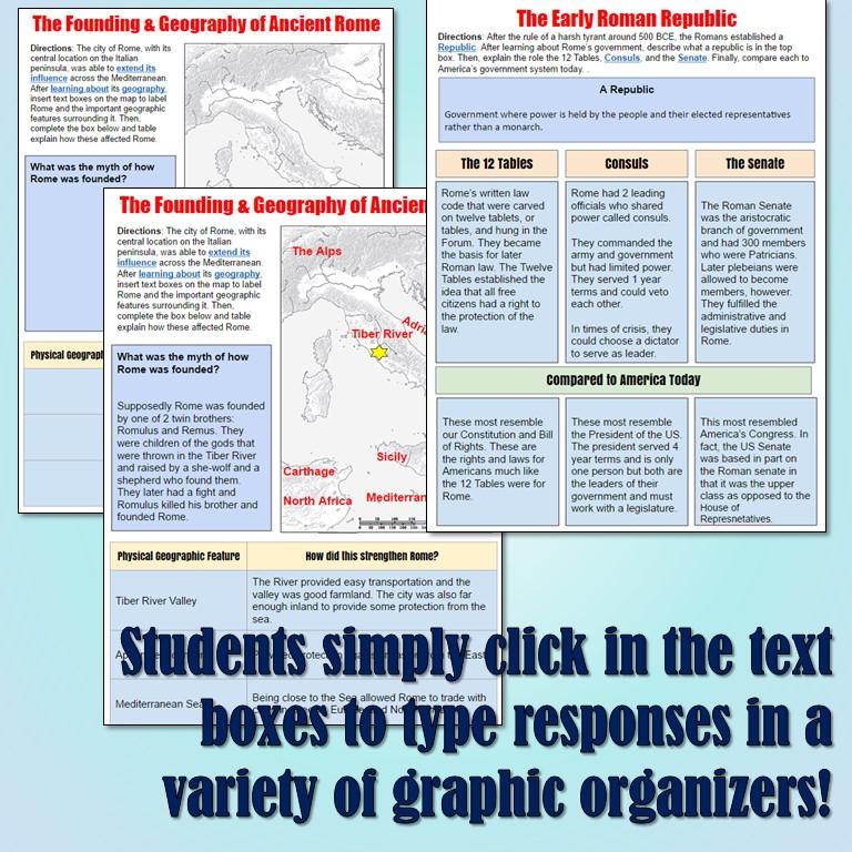 Students of History Roman Republic Google Drive Interactive Notebook – Roman Republic Worksheet
