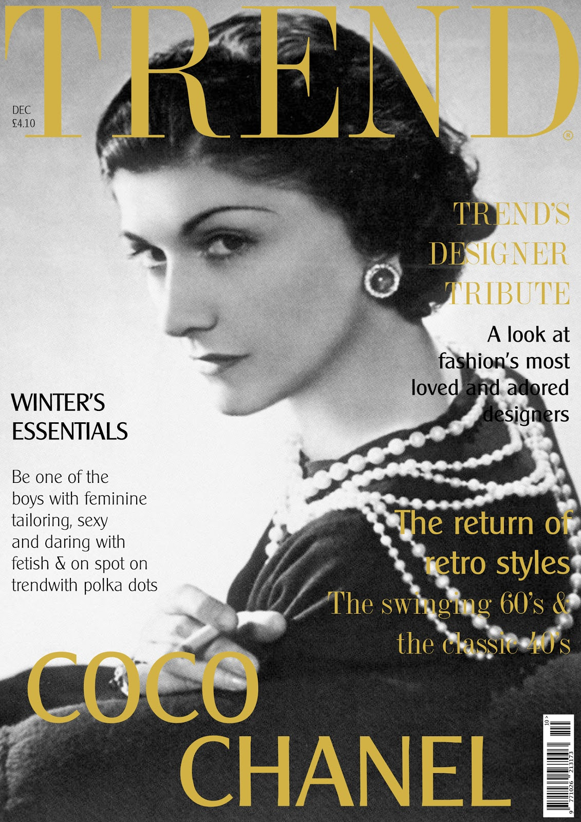 TREND: December 2011: Cover Story: Coco Chanel