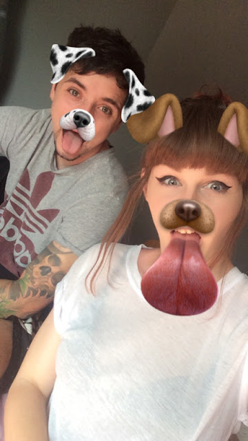 bae, snapchat filter, fun, dog