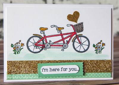 Pedal Pushers I'm Here For You with Glittery Washi Tape from Stampin' Up! UK