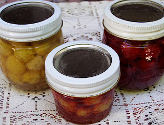 Three Jars of Assorted Berries