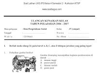 Soal UKK/ UAS Kelas 4 IPS Semester 2/ Genap