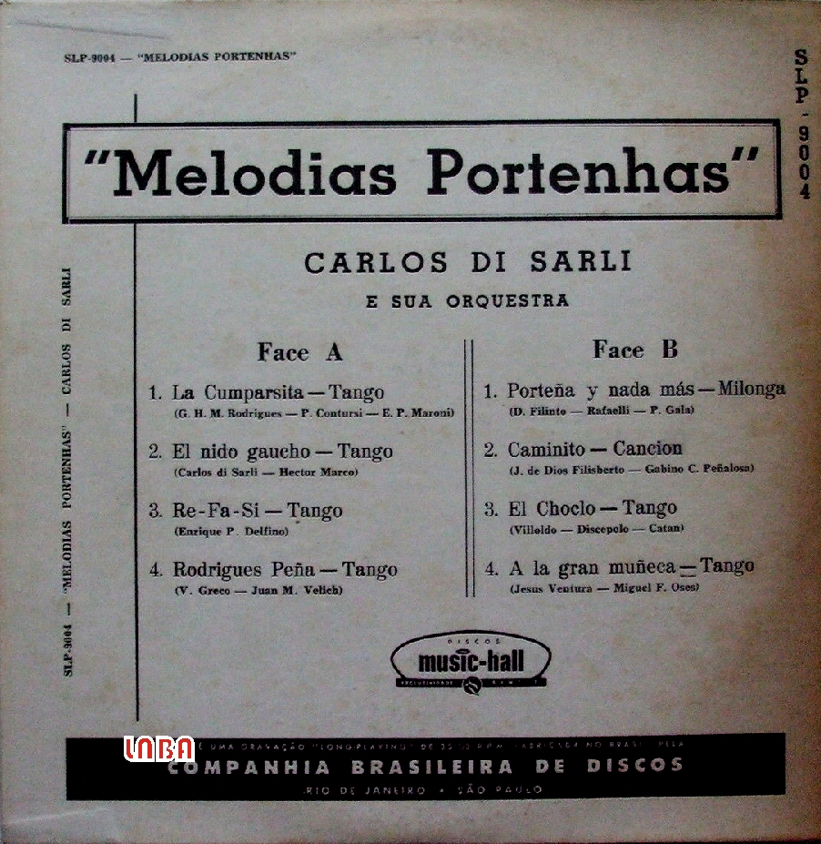 Carlos Di Sarli Y Su Orquesta Recuerdos Del Maestro Carlos Di Sarli