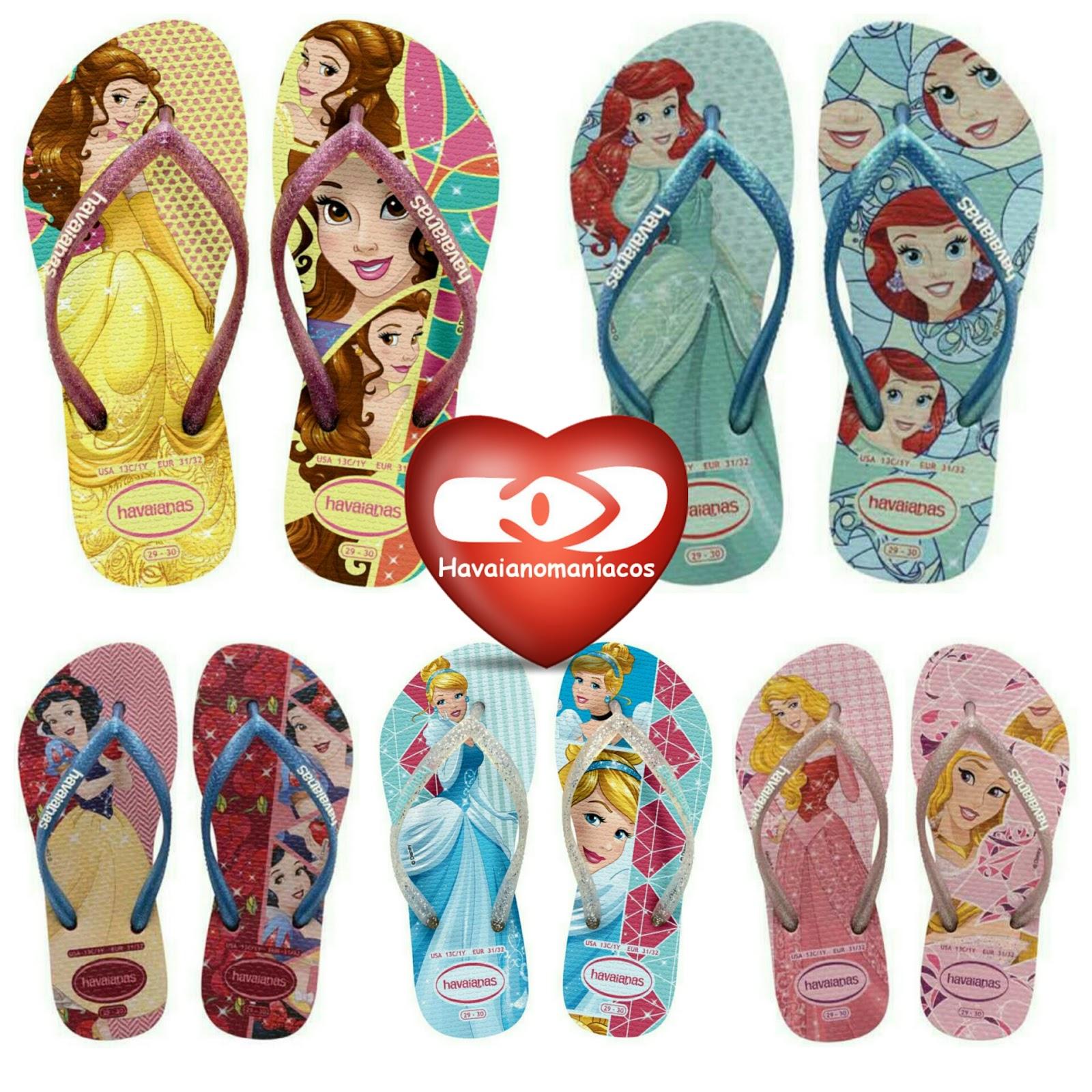 7670c0b36 Este ano as sandálias com estampas de princesas estão simplesmente  arrasando e enlouquecendo a galera apaixonada por havaianas.