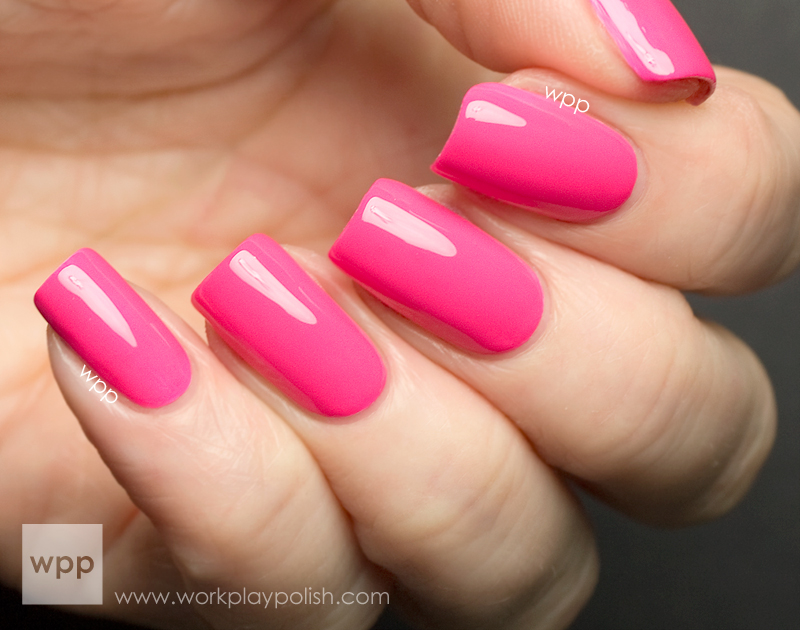 Nicole by OPI (NOPI) Neon Pink from the Scandalous! NEONS Collection