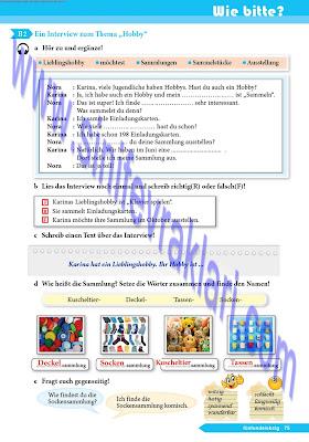 9. Sınıf Almanca A1.1 Ders Kitabı Cevapları Sayfa 75