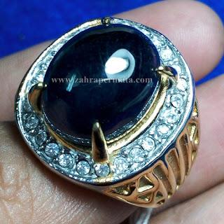 Cincin Batu Permata Dark Blue Saphire