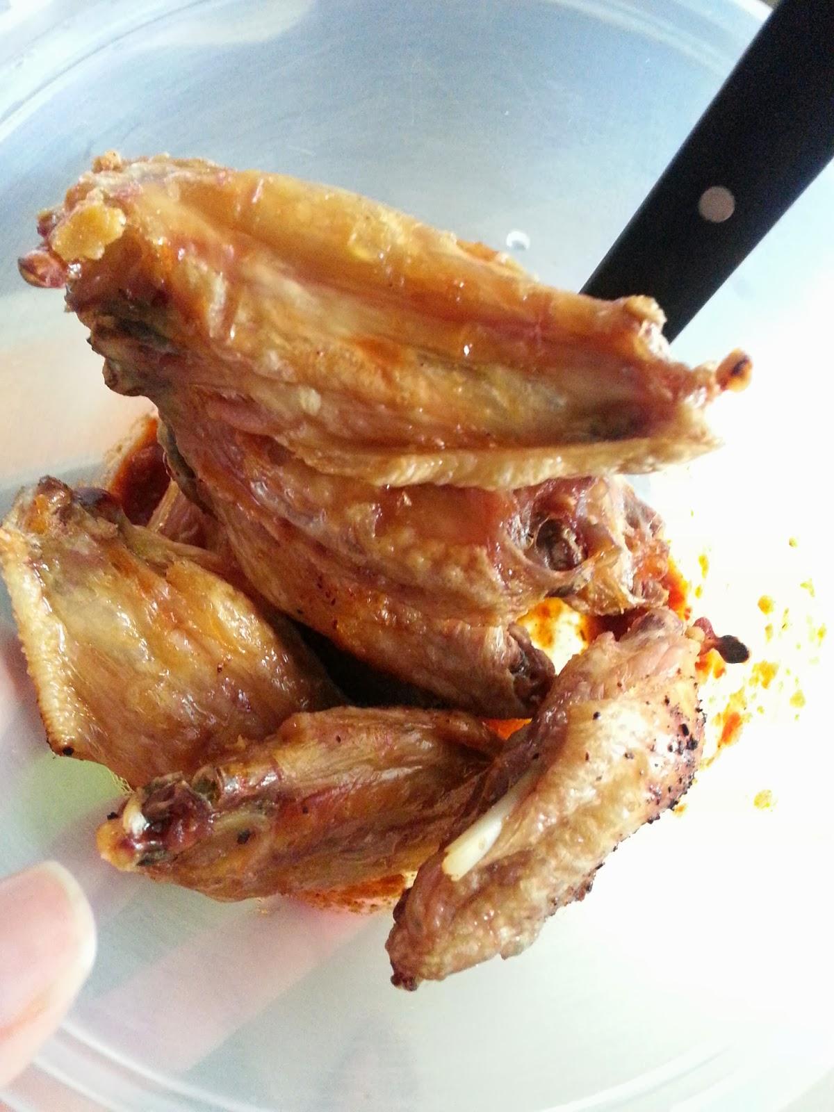 Baked Sambal Chicken Wing Delishar