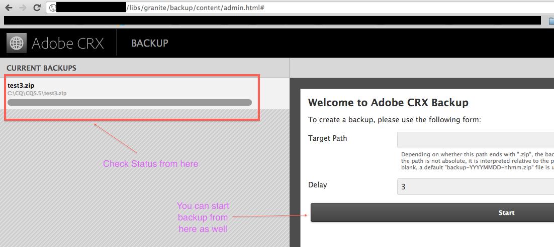 Adobe CQ/Adobe AEM: How to run online backup / Datastore GC