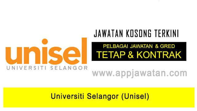 Jawatan Kosong di Universiti Selangor (Unisel)