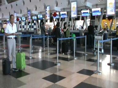Suasana sepi di Bandara Kualanamu
