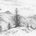 Contoh Gambaran Sketsa Yang Mudah Ditiru dan Dilukis Dengan Pensil