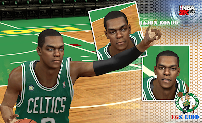 NBA 2K14 Rajon Rondo Cyberface Patch