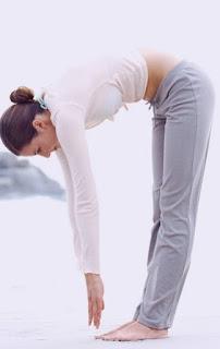 Yoga Pose Half-standing Forward Bend