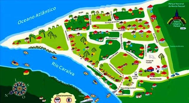 Mapa de Caraíva