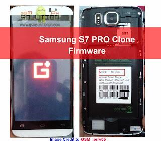 Samsung S7 PRO Clone Firmware ROM
