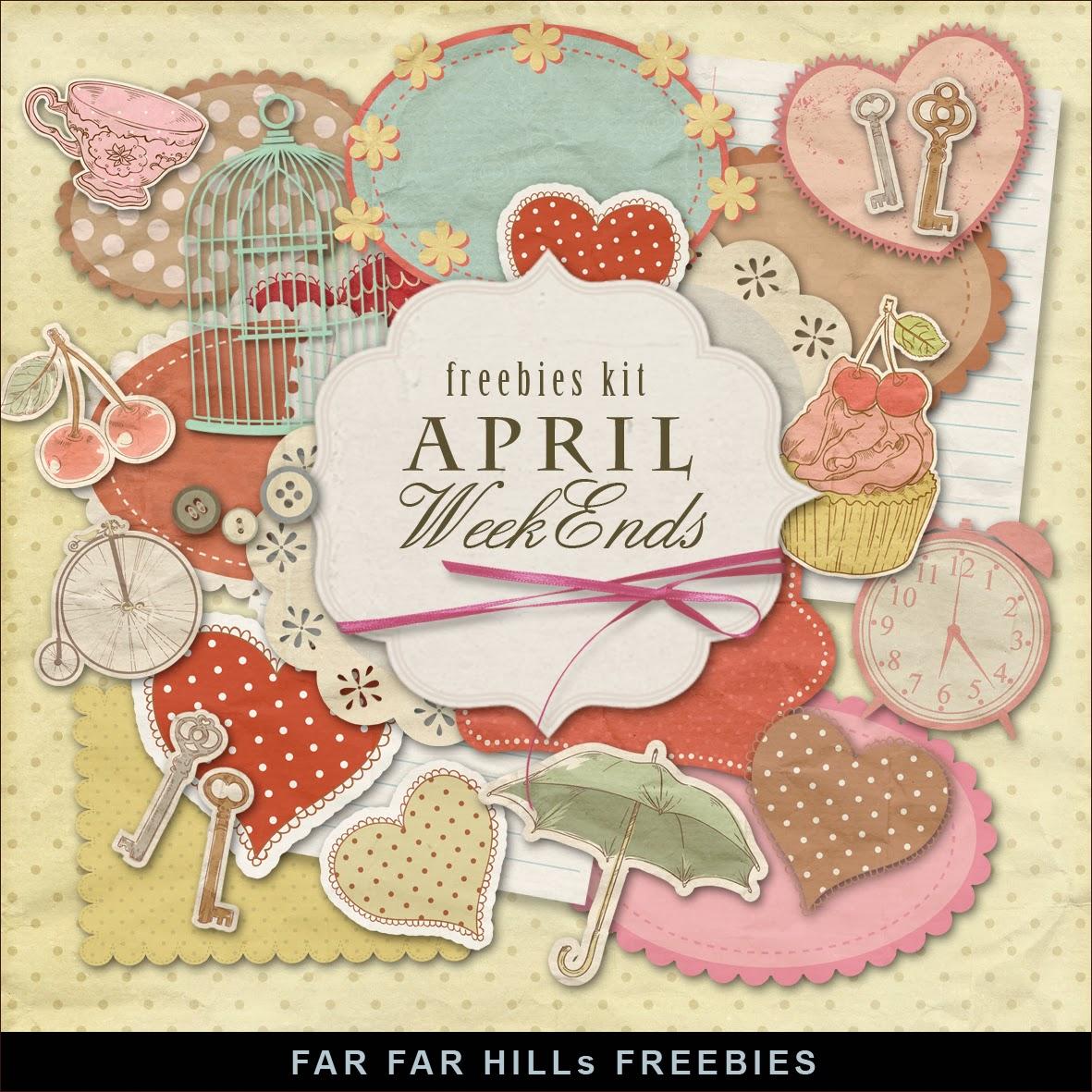 new freebies kit of labels april weekend far far hill free database of digital illustrations. Black Bedroom Furniture Sets. Home Design Ideas