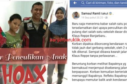 Pengakuan si Anak, Kabar Penculikan Anak di Banjarbaru itu Ternyata Begini Sebenarnya