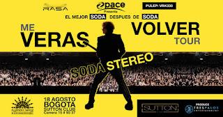 Me Verás Volver Tour: Tributo Soda Stereo en Bogotá 2018