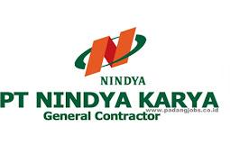 Lowongan Kerja PT. Nindya Karya (Persero) Maret 2019