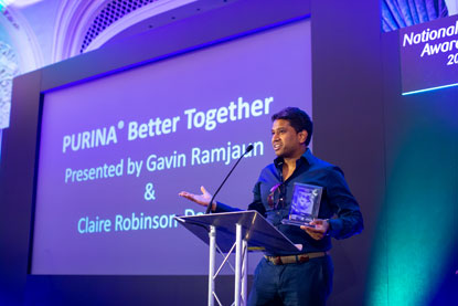 Gavin Ramjaun Purina Better Together Award Cats Protection