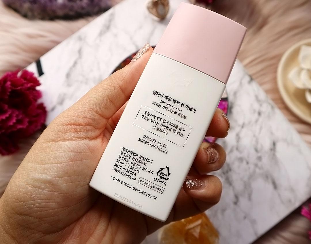 Althea Korea Petal Sunaway Sunblock Review