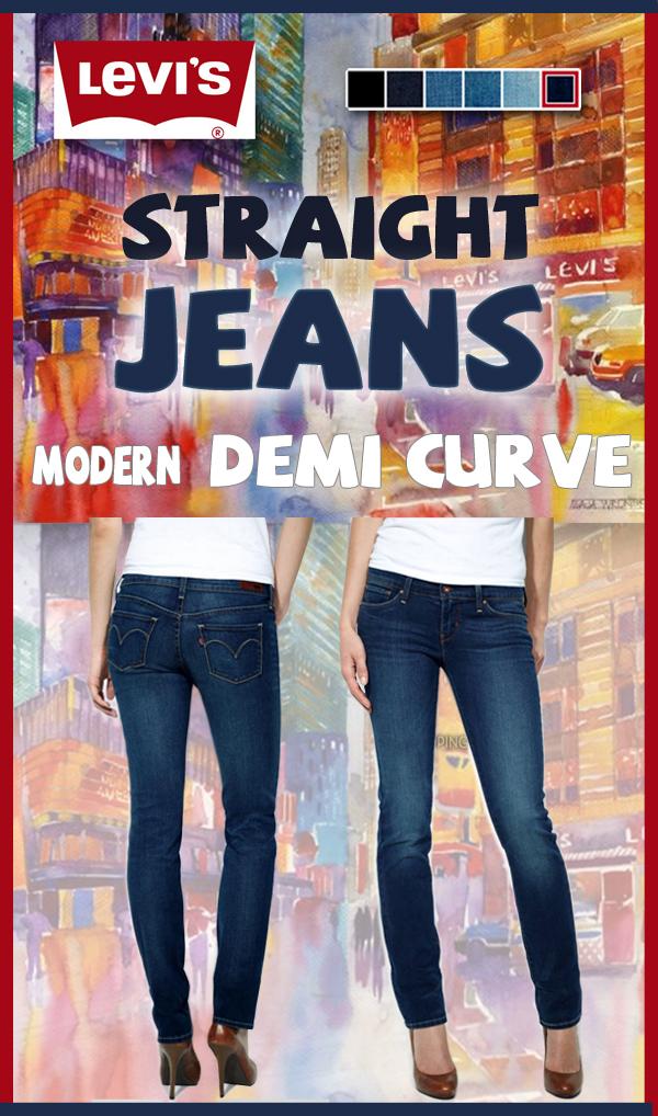 Jean femme Demi curve modern rise de LEVI'S