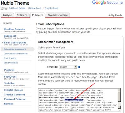 Cara Membuat Kotak Email Berlangganan di Blog
