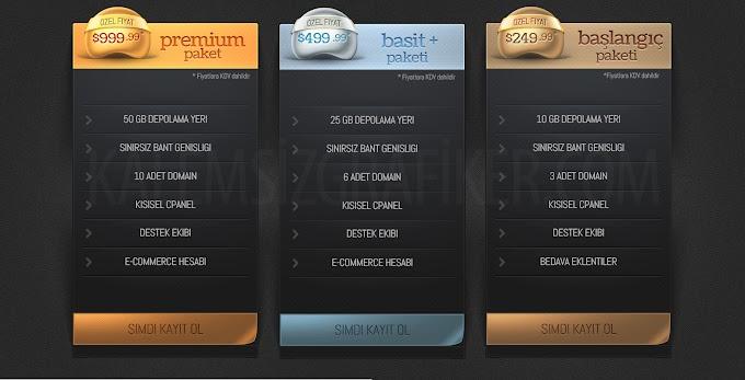 3 Adet Fiyat Tablosu PSD