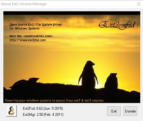 Akses Partisi Linux dari Windows dengan Ext2 Volume Manager ~ ChemDy