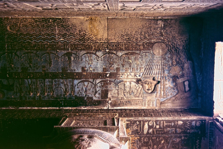 Nut y el Viaje Nocturno del Sol en el templo de Dendera