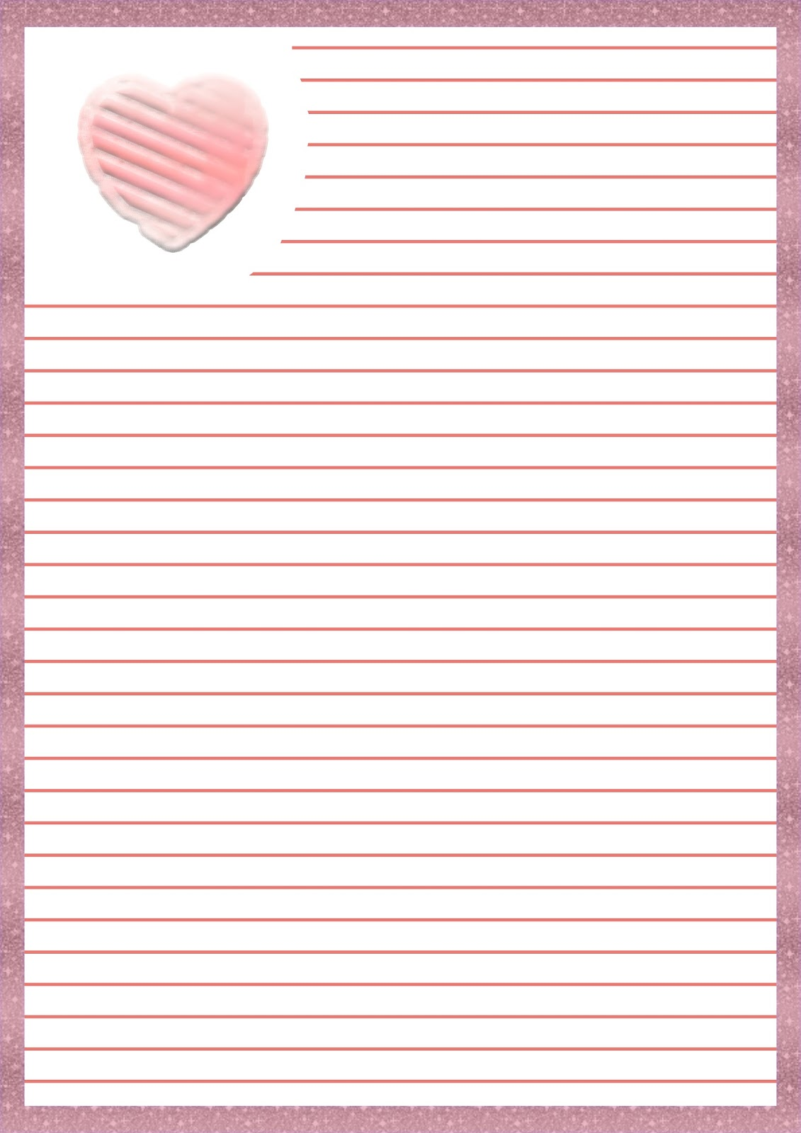 Papel para cartas de amor imprimible - Imprimibles y PNG gratis para ...