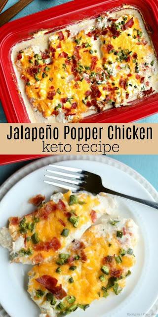 Keto Jalapeno Popper Chicken Recipe