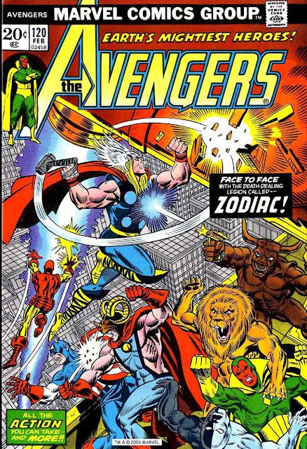Avengers v1 #120 marvel comic book cover art by Jim Starlin