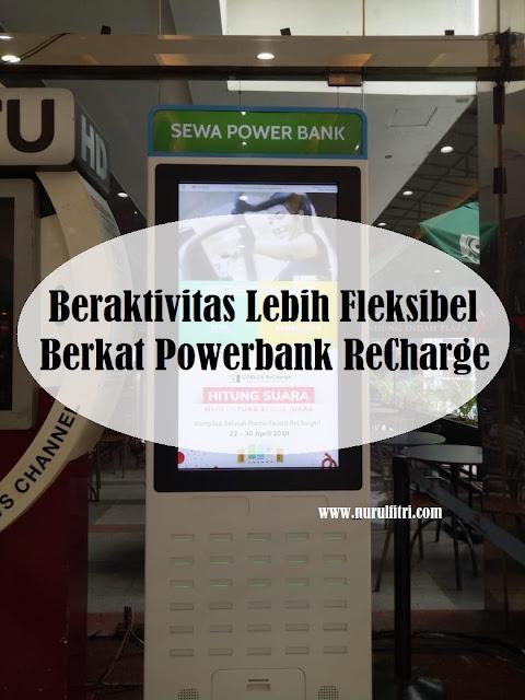 beraktivitas lebih fleksibel berkat powerbank recharge