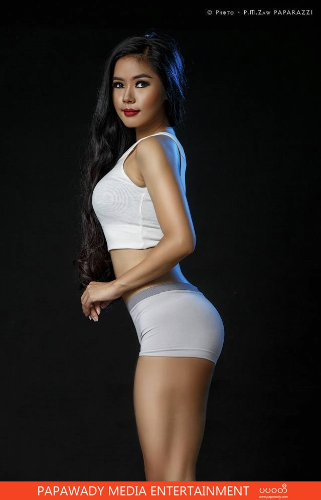 Fitness Athlete Model Khin Su Yee Shows Off Her Crazy Eye In New Studio Photoshoot